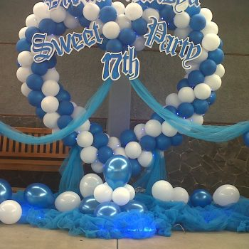 Paket Balon Dekorasi Sweet17th Star