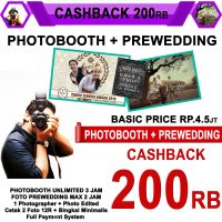 Cashback Photobooth + Prewedding Basic Outdoor