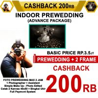 Cashback Prewedding Indoor Advance