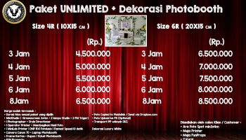 Paket Unlimited + Dekorasi Photobooth